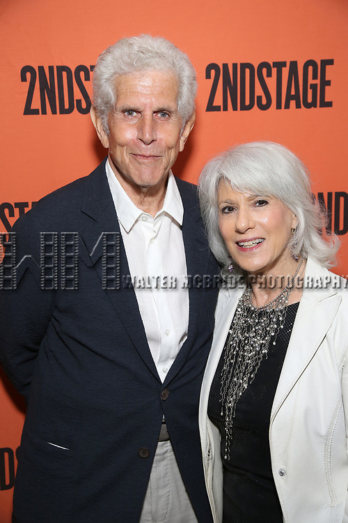 Tony Roberts and Jamie deRoy attend the Opening Night performance of 'A Parallelogram'  at The Second Stage Theatre on August 2, 2017 in New York City.