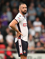 Bolton Wanderers Aaron Wilbraham<br /> <br /> Photographer Rachel Holborn/CameraSport<br /> <br /> The Carabao Cup - Crewe Alexandra v Bolton Wanderers - Wednesday 9th August 2017 - Alexandra Stadium - Crewe<br />  <br /> World Copyright &copy; 2017 CameraSport. All rights reserved. 43 Linden Ave. Countesthorpe. Leicester. England. LE8 5PG - Tel: +44 (0) 116 277 4147 - admin@camerasport.com - www.camerasport.com