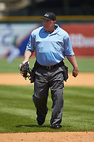 Home plate umpire Jay Asher during the game between the Miami Hurricanes and the Wake Forest Demon Deacons in Game Nine of the 2017 ACC Baseball Championship at Louisville Slugger Field on May 26, 2017 in Louisville, Kentucky. The Hurricanes defeated the Demon Deacons 5-2. (Brian Westerholt/Four Seam Images)