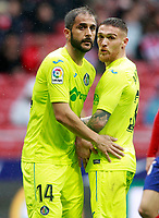 Getafe CF's Sergio Mora (l) and Vitorino Antunes during La Liga match. January 6,2018. (ALTERPHOTOS/Acero) /NortePhoto.com NORTEPHOTOMEXICO