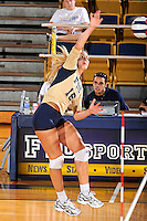 11 September 2011:  FIU outside hitter Jovana Bjelica (16) hits a kill shot as the FIU Golden Panthers defeated the Florida A&M University Rattlers, 3-0 (25-10, 25-23, 26-24), at U.S Century Bank Arena in Miami, Florida.