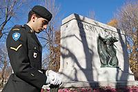 FILE PHOTO - <br /> Soldat au jour du Souvenir, le 11 novembre 2005<br /> <br /> <br /> PHOTO :  Jacques Pharand - Agence Quebec Presse
