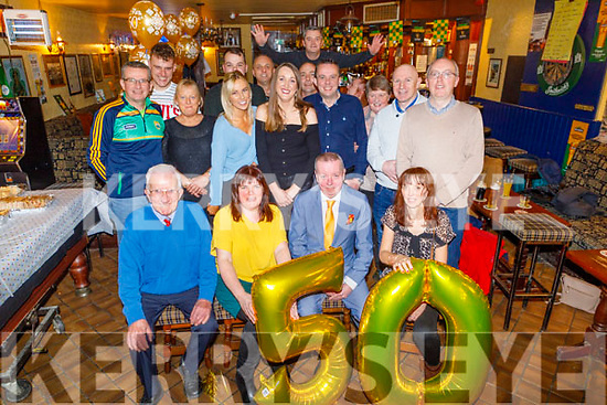 Dermot O'Brien Jr from Tralee celebrating his 50th birthday in the Rock Inn on Saturday<br /> L to r: Dermot O'Brien Sr, Catherine O'Connor, Dermot O'Brien Jr and Ann O'Brien