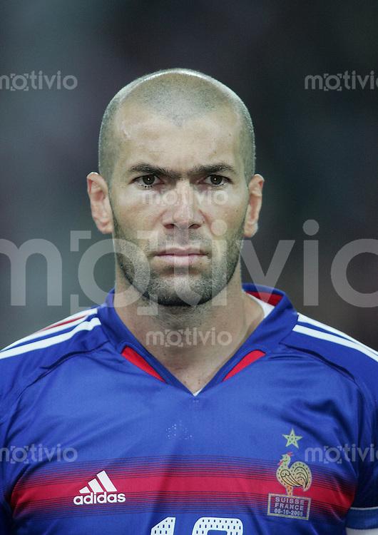 Fussball International WM Qualifikation Schweiz 1-1 Frankreich Portraet, Zinedine Zidane (FRA)