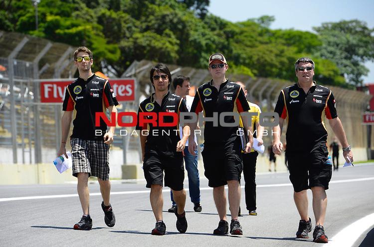 22-24.11.2013, Autodromo Jose Carlos Pace, Sao Paulo, BRA, F1, Grosser Preis von Brasilien, im Bild Romain Grosjean (FRA) Lotus Renault F1 Team <br />  Foto &copy; nph / Mathis