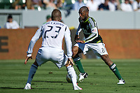 CARSON, CA - June 17, 2012: Portland Timbers midfielder Franck Songo'o (8) during the LA Galaxy vs Portland Timbers match at the Home Depot Center in Carson, California. Final score LA Galaxy 1, Portland Timbers 0.