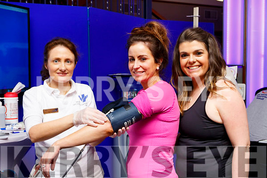 Mary Nagle Bons Secours Hospital Tralee checks Sinead O'Leary and  Suzanne O'neill blood pressure at balance on Sunday