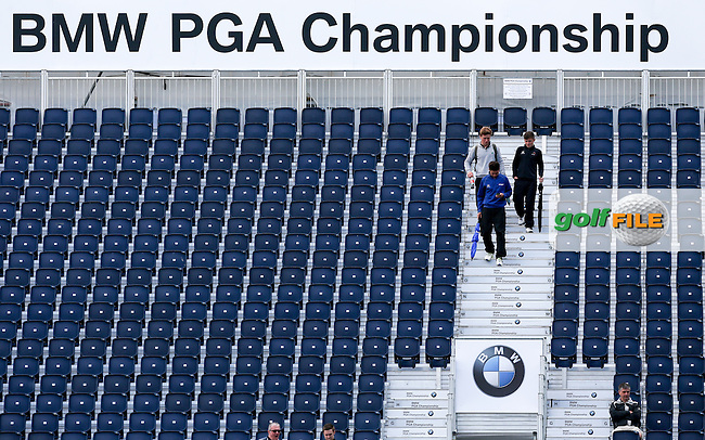 The grandstand at the 18th during the preview ahead of the 2015 BMW PGA Championship over the West Course at Wentworth, Virgina Water, London. Picture David Lloyd / www.golffile.ie. 19/05/2015