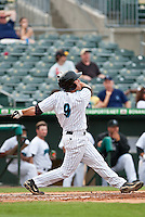 May 1 2010: Chris Wade (9) of the Jupiter Hammerheads  during a game vs. the Palm Beach Cardinals at Roger Dean Stadium in Jupiter, Florida. Palm Beach, the Florida State League High-A affiliate of the St. Louis Cardnials, won the game against Jupiter, affiliate of the Florida Marlins, by the score of 5-4  Photo By Scott Jontes/Four Seam Images