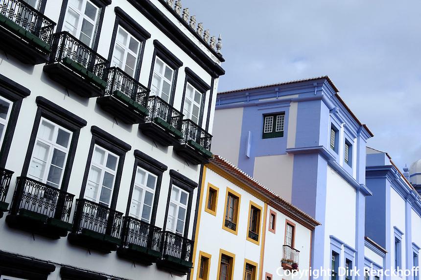 Rua Direita in Angra do Heroismo auf der Insel Terceira, Azoren, Portugal, Unesco-Weltkulturerbe