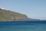 Hawaii: Molokai, scenic view of cliffs and ocean from Kalaupapa..Photo himolo118-71866..Photo copyright Lee Foster, www.fostertravel.com, lee@fostertravel.com, 510-549-2202