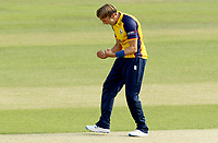Aaron Beard of Essex celebrates taking the wicket of Ben Foakes during Essex Eagles vs Surrey, Vitality Blast T20 Cricket at The Cloudfm County Ground on 11th September 2020