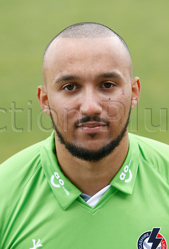 08.04.2016. Old Trafford, Manchester, England. Lancashire County Cricket Press Call. Lancashire bowler George Edwards.