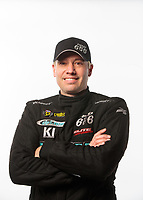 Feb 6, 2019; Pomona, CA, USA; NHRA pro stock driver Matt Hartford poses for a portrait during NHRA Media Day at the NHRA Museum. Mandatory Credit: Mark J. Rebilas-USA TODAY Sports