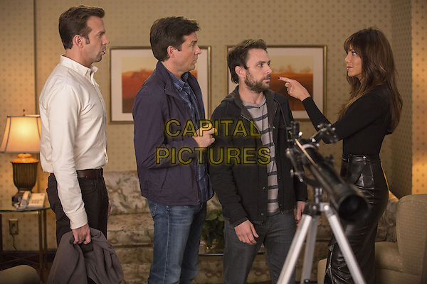 Jason Sudeikis, Jason Bateman, Charlie Day, Jennifer Aniston<br /> in Horrible Bosses 2 (2014) <br /> *Filmstill - Editorial Use Only*<br /> CAP/FB<br /> Image supplied by Capital Pictures