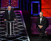 "BEVERLY HILLS - SEPTEMBER 7: Alec Baldwin and Robert De Niro appear onstage at the ""Comedy Central Roast of Alec Baldwin"" at the Saban Theatre on September 7, 2019 in Beverly Hills, California. (Photo by Frank Micelotta/PictureGroup)"