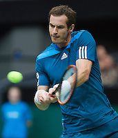 12-02-14, Netherlands,Rotterdam,Ahoy, ABNAMROWTT,Andy Murray(GRB) in his match against Edouard Roger-Vasselin(FRA)<br /> Photo:Tennisimages/Henk Koster