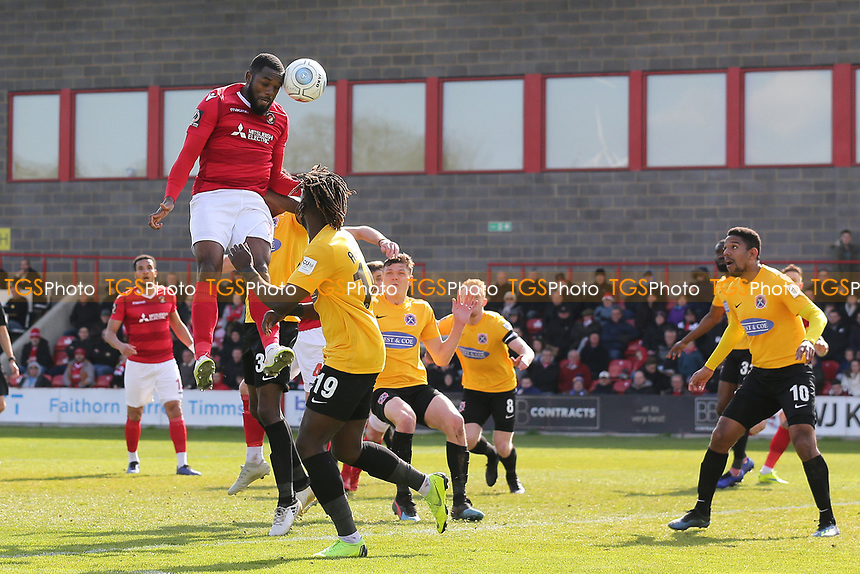 Gozie Ugwu of Ebbsfleet goes close during Ebbsfleet United vs Dagenham & Redbridge, Vanarama National League Football at The Kuflink Stadium on 13th April 2019