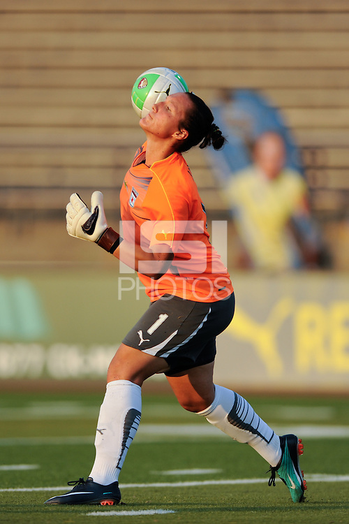 Goalkeeper Jillian Loyden (1) of the Chicago Red Stars. The Philadelphia Independence defeated the Chicago Red Stars 3-0 during a Women's Professional Soccer (WPS) match at John A. Farrell Stadium in West Chester, PA, on July 28, 2010.