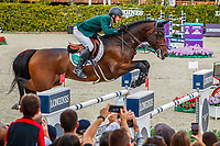 IRL-Peter Moloney rides Chianti's Champion during the Longines FEI Nations Cup Jumping - Final Competition. CSIO Barcelona. Reial Club de Polo de Barcelona. Spain. Sunday 6 October. Copyright Photo: Libby Law Photography