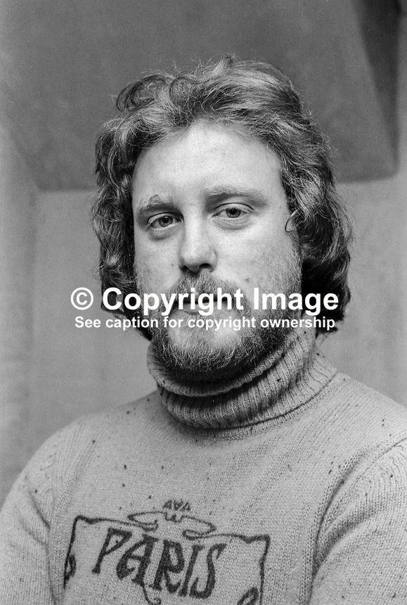 Gerry Fitzgerald, photographer, Pacemaker Press, Belfast, N Ireland, UK, taken 8th February 1976. 197602080092GF. Later worked for Belfast Telegraph both as photographer and picture editor.<br />