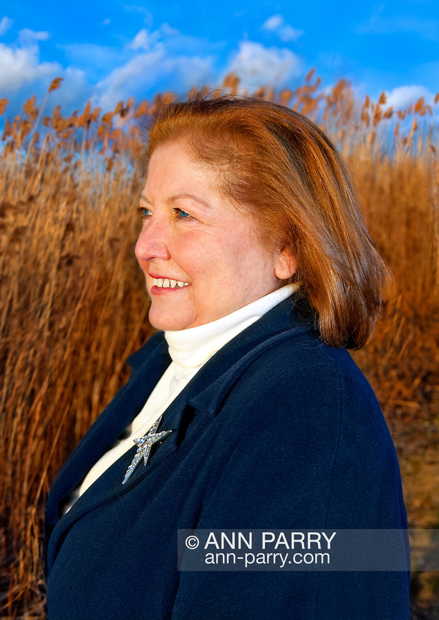 Woman Looking to Side Reeds at Dusk,taken at Levy Park in Merrick, New York