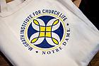 June 21, 2017; Tote bag at McGrath Institute for Church Life seminar. (Photo by Matt Cashore/University of Notre Dame)