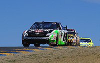 Jun. 21, 2009; Sonoma, CA, USA; NASCAR Sprint Cup Series driver Robby Gordon during the SaveMart 350 at Infineon Raceway. Mandatory Credit: Mark J. Rebilas-
