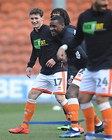 Blackpool's Matthew Virtue during the pre-match warm-up <br /> <br /> Photographer Kevin Barnes/CameraSport<br /> <br /> The EFL Sky Bet League One - Blackpool v Peterborough United - Saturday 13th April 2019 - Bloomfield Road - Blackpool<br /> <br /> World Copyright &copy; 2019 CameraSport. All rights reserved. 43 Linden Ave. Countesthorpe. Leicester. England. LE8 5PG - Tel: +44 (0) 116 277 4147 - admin@camerasport.com - www.camerasport.com