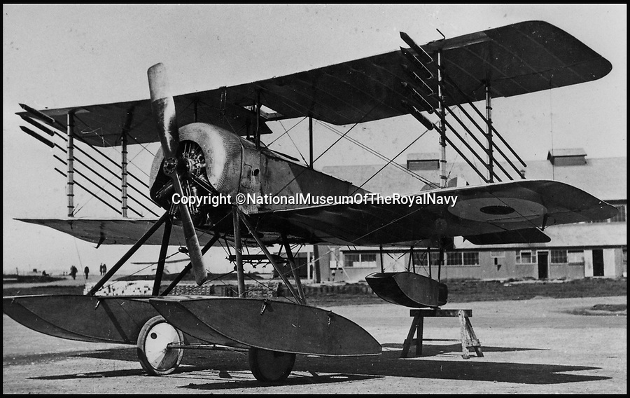 BNPS.co.uk (01202 558833)<br /> Pic: NationalMuseumOfTheRoyalNavy/BNPS<br /> <br /> 1916 Sopwith Baby with the rudimentary rockets fitted.<br /> <br /> From 'Glorified fireworks' to pilotless drones in only 100 years.<br /> <br /> A museum has recreated the world's first air to air missile - almost 100 years to the day after they were first used.<br /> <br /> The worlds only remaining Sopwith Baby seaplane has been fitted with the rockets to show how missile weapons have come on a long way in the last century.<br /> <br /> In 1916 the British boffins used what were essentially glorified fireworks to protect the country from the threat of Zeppelin airship raids.<br /> <br /> The pilots had to get within 200 metres of their target to have any accuracy and risked being shot at or catching on fire themselves if they did hit their target.<br /> <br /> Staff at the Fleet Air Arm Museum near Yeovil, Somerset, have used old engineering drawings and photographs to replicate the aircraft missiles on the only surviving Sopwith Baby in the world for a new exhibition.<br /> <br /> The missiles were called Le Prieur rockets, named after the French lieutenant who invented them, and they were first used at the Battle of Verdun in April 1916.