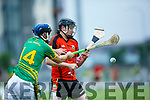 Lixnaw's Michael Conway and Ballyheigue's Damien Casey in the   Lixnaw v Ballyheigue in the Garveys Supervalu Kerry SHC Round 1 tie in Austin Stack Park on Friday