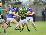 Ahane Paul O'Halloran &amp; Patrickswell Diarmuid Byrne in action during their Senior Hurling Championship Round 1 Game played in Bruff Co.Limerick.<br /> Pictured Credit Brian Gavin Press 22