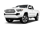 Stock pictures of low aggressive front three quarter view of 2016 Toyota Tacoma TRD Sport 4 Door Pick Up Low Aggressive