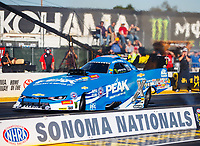 Jul 28, 2017; Sonoma, CA, USA; NHRA funny car driver John Force during qualifying for the Sonoma Nationals at Sonoma Raceway. Mandatory Credit: Mark J. Rebilas-USA TODAY Sports