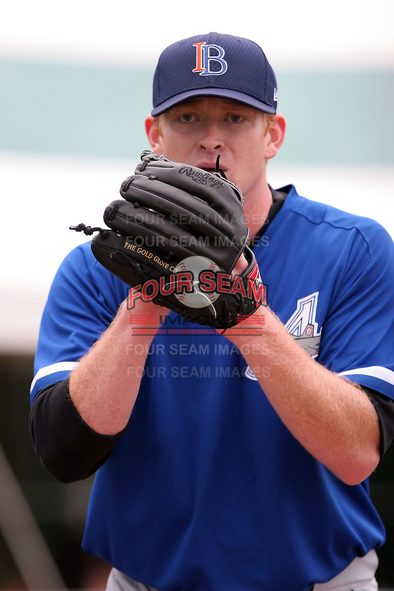 July 14th, 2007:  Jon Leicester of the Aberdeen Ironbirds, Class-A Short-Season affiliate of the Baltimore Orioles, throws in the bullpen before a game vs the Jamestown Jammers in New York-Penn League action while on rehab assignment.  Photo by: Mike Janes/Four Seam Images
