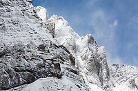 Winter scene - Crestone Needle (foreground) and Crestone Peak (center)