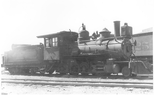3/4 engineer's-side view of D&amp;RG #284 at Alamosa.<br /> D&amp;RG  Alamosa, CO  6/6/1923