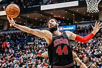 THM05. MILWAUKEE (EE.UU.), 26/12/2017.- El jugador Nikola Mirotic de los Chicago Bulls en acción hoy, martes 26 de diciembre de 2017, durante un partido de baloncesto de la NBA, entre los Chicago Bulls y los Milwaukee Bucks, en el Centro BMO Harris Bradley, en Milwaukee (EE.UU.). EFE/TANNEN MAURY