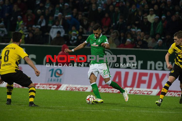 20.12.2014, Weser Stadion, Bremen, GER, 1.FBL, Werder Bremen vs Borussia Dortmund, im Bild<br /> <br /> Davie Selke (Bremen #27)<br /> <br /> <br /> <br /> <br /> Foto &copy; nordphoto / Kokenge