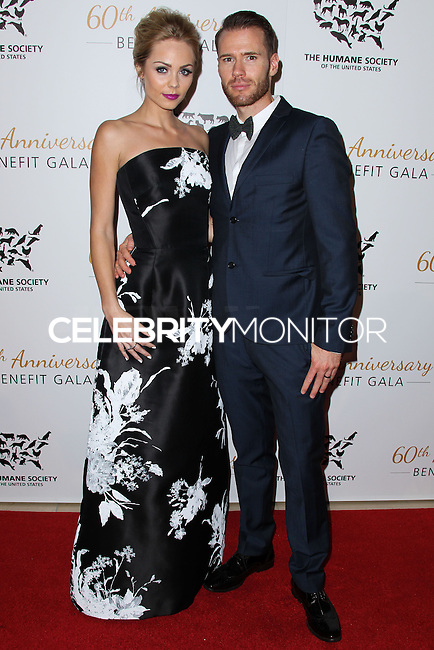 BEVERLY HILLS, CA, USA - MARCH 29: Laura Vandervoort, Oliver Trevena at The Humane Society Of The United States 60th Anniversary Benefit Gala held at the Beverly Hilton Hotel on March 29, 2014 in Beverly Hills, California, United States. (Photo by Xavier Collin/Celebrity Monitor)