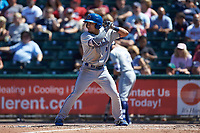 Keon Wong (26) of the Durham Bulls at bat against the Lehigh Valley Iron Pigs at Coca-Cola Park on July 30, 2017 in Allentown, Pennsylvania.  The Bulls defeated the IronPigs 8-2.  (Brian Westerholt/Four Seam Images)