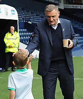 Blackburn Rovers manager Tony Mowbray high fives a young fan<br /> <br /> Photographer Kevin Barnes/CameraSport<br /> <br /> The EFL Sky Bet Championship - West Bromwich Albion v Blackburn Rovers - Saturday 31st August 2019 - The Hawthorns - West Bromwich<br /> <br /> World Copyright © 2019 CameraSport. All rights reserved. 43 Linden Ave. Countesthorpe. Leicester. England. LE8 5PG - Tel: +44 (0) 116 277 4147 - admin@camerasport.com - www.camerasport.com