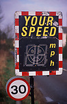 AE2BWE Speed warning LCD display in thirty miles per hour zone