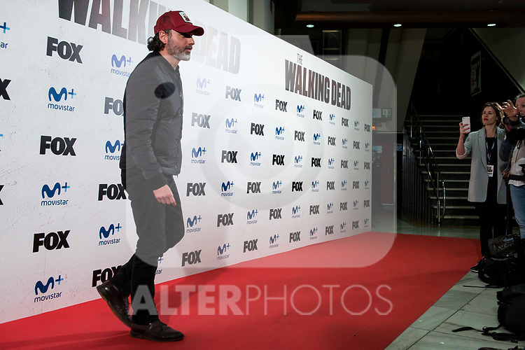 """Andrew Lincoln attends to an event with fans of """"The Walking Dead"""" at Cines Capitol in Madrid. March 09, 2017. (ALTERPHOTOS/Borja B.Hojas)"""