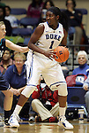 20 December 2011: Duke's Elizabeth Williams. The Duke University Blue Devils defeated the University of North Carolina Wilmington Seahawks 107-45 at Cameron Indoor Stadium in Durham, North Carolina in an NCAA Division I Women's basketball game.