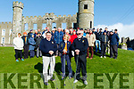 At Ballyheigue golf club last Sunday morning, incoming captain Denis O'Regan, Lt, Lady Captain, Kathleen Harty and club president, John Lohan get ready for the Captains Drive.
