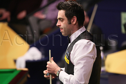 01.05.2013 Sheffield, England. Ronnie O'Sullivan after his win against Stuart Bingham during the Quarter Final of the World Snooker Championships from The Crucible Theatre.