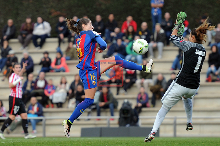 Spanish Women's Football League Iberdrola 2016/17 - Game: 11.<br /> FC Barcelona vs Athletic Club: 2-1.<br /> Vicky Losada vs Ainhoa.