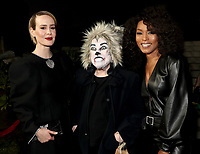 """LOS ANGELES - OCTOBER 26: (L-R) Sarah Paulson, Kathy Bates and Angela Bassett attend the red carpet event to celebrate 100 episodes of FX's """"American Horror Story"""" at Hollywood Forever Cemetery on October 26, 2019 in Los Angeles, California. (Photo by John Salangsang/FX/PictureGroup)"""