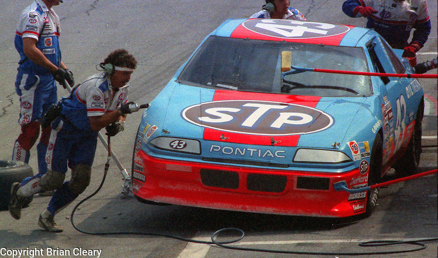 Richard Petty pits pit road action Pepsi Firecracker 400 at Daytona International Speedway in Daytona Beach, FL in July 1988. (Photo by Brian Cleary/www.bcpix.com)